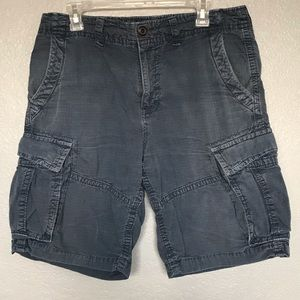 EUC AEO Blue Cotton Multi Pocket Cargo Shorts s 32